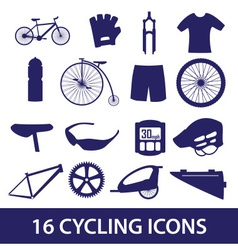 Cycling icon set eps10 vector
