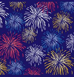 fireworks background pattern vector image