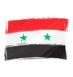 grunge Syria flag vector image vector image