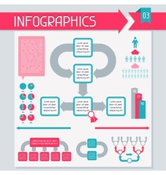 Infographics elements collection Set 3 vector image vector image