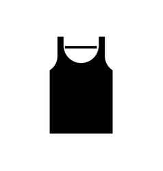 singlet icon black sign on vector image