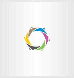 tech logo colorful abstract icon vector image