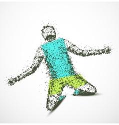 Abstract man vector image vector image