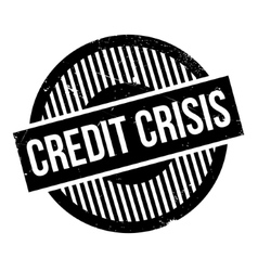 Credit crisis rubber stamp vector