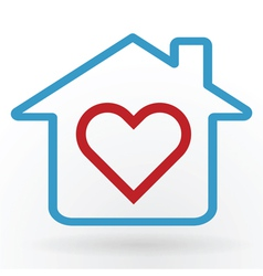 love at home vector image vector image