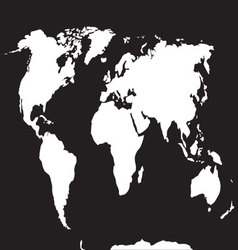 Map world black white vector image