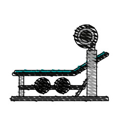 Olympic incline bench vector