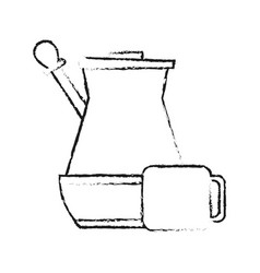 Press coffee related icon image vector