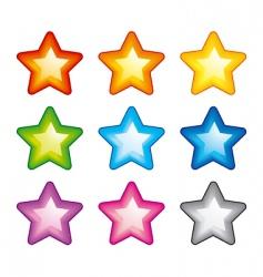 rainbow stars vector image