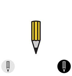 Simple pencil icon Black stroke style vector image vector image
