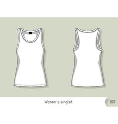 Women singlet Template for design easily vector image