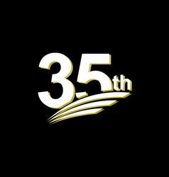 35 th anniversary elegant white celebration vector