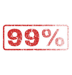 99 percent rubber stamp vector image