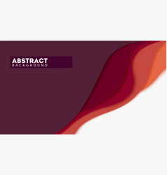 Abstract paper cut forms multi layers design vector