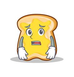 afraid slice bread cartoon character vector image
