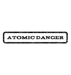 Atomic danger watermark stamp vector