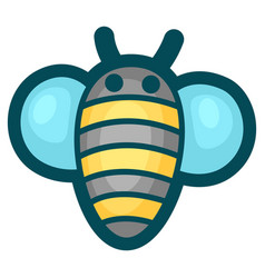 bee in cartoon style cute funny vector image
