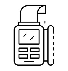 bill paper pos terminal icon outline style vector image