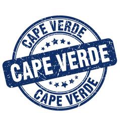 Cape verde blue grunge round vintage rubber stamp vector
