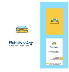 car creative logo and business card vertical vector image