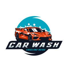 Car wash logo vector
