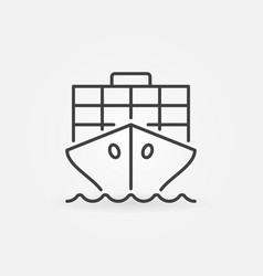 Cargo ship outline icon vector