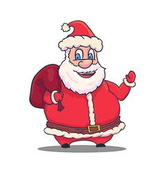 Cartoon santa claus character on white background vector
