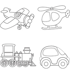 Cartoon transport vector image