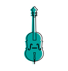 Cello musical instrument icon image vector