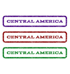 Central america watermark stamp vector