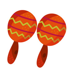 cinco de mayo maracas instrument culture vector image