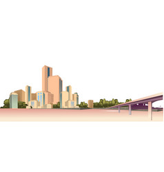 city landscape on a white background vector image
