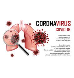 Coronavirus 2019-ncov outbreak banner vector