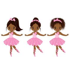cute little african american ballerinas vector image
