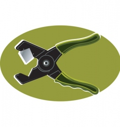 cutting plier vector image