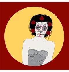 day dead girl vector image