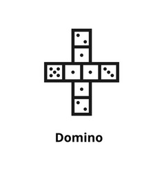 Domino line icon vector