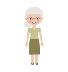 elderly woman dressed with glasses vector image