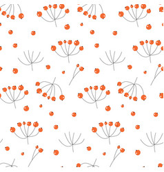 elegant seamless pattern with hand drawn vector image