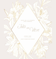 Frame with spring and summer line flowers vector