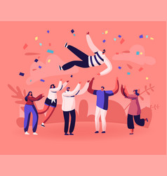 friends birthday party business success vector image