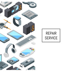 gadgets icons with place for text vector image
