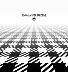 Gingham pattern perspective vector image