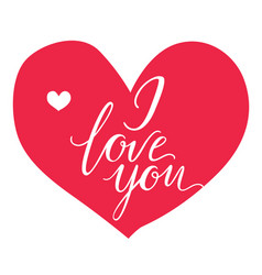 greeting card i love you inscription on a vector image