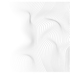 Grey dotted lines refracted waves abstract vector