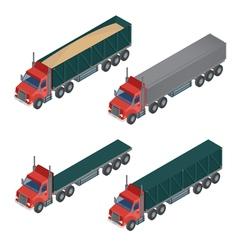 Heavy Transportation Isometric Cargo Truck vector
