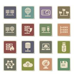 hosting provider icon set vector image