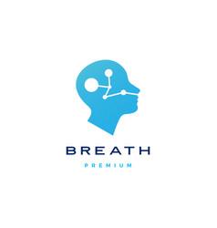 Human head breath logo icon vector