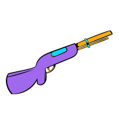 Hunting shotgun icon icon cartoon vector