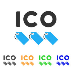Ico tokens icon vector